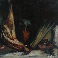 Arte: JOAN SERRA MELGOSA (1899-1970) ÓLEO SOBRE LIENZO BODEGÓN FIRMADO. Lote 100071979