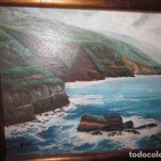 Arte: OLEO PAISAJE MARINA MEDITERRANEO ENMARCADO CON FIRMA MEDIDAS 59 X 51. Lote 100096571