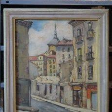 Arte: BONITA VISTA DE MADRID. OLEO S/ LIENZO. FIRMADO. F. CASTILLO. PRIMERA MITAD SIGLO XX. Lote 100096847