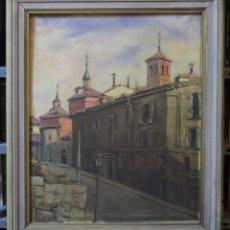 Arte: BONITA VISTA DE MADRID. OLEO S/ LIENZO. FIRMADO. FCO. CASTILLO. PRIMERA MITAD SIGLO XX. Lote 100096863