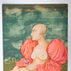 Arte: LUIS COHEN FUSÉ (BUENOS AIRES 1944), RETRATO, TÉCNICA MIXTA, 1976. 51,5X73CM. Lote 100126547