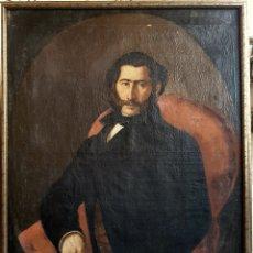 Arte: J. CALVO, EXCEPCIONAL RETRATO , OLEO SOBRE LIENZO. S.XIX ESCUELA SEVILLANA, 1857. Lote 100136880