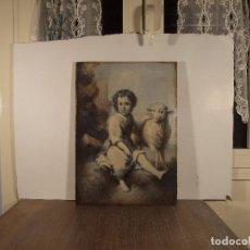 Arte: HENRI FANTIN-LATOUR. (ATRIBUIDO). COPIA EL BUEN PASTOR (MURILLO) 33 X 46 CM O/LIENZO. Lote 100138075