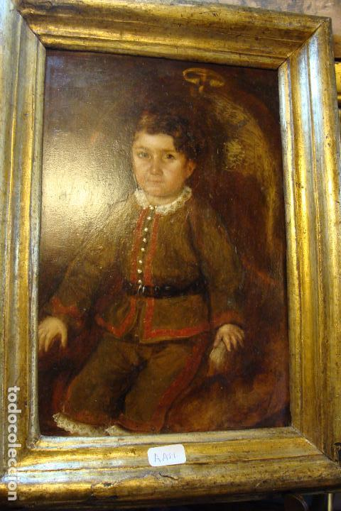 ÓLEO SOBRE TABLA - NIÑO (Arte - Pintura - Pintura al Óleo Antigua siglo XVIII)