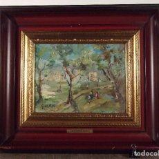 Kunst - Giuseppe Elena (1801-1867) paisaje 18.5 x 24.5 cm óleo sobre Tabla - 100144399