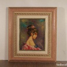 Arte: RETRATO FIRMADO S. CARBONELL. 24 X 19 CM; CON MARCO: 42 X 37 CM. Lote 100240431