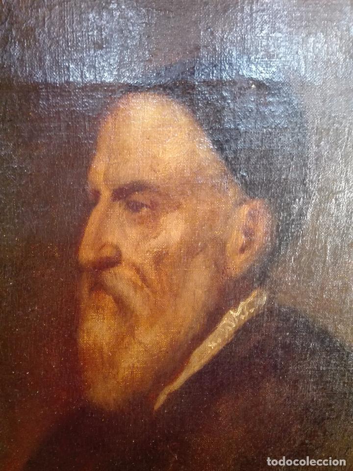Arte: MUY INTERESANTE AUTORRETRATO DE TIZIANO - MUSEO DEL PRADO - SIGLO XVIII-XIX - OLEO SOBRE LIENZO - - Foto 3 - 100261555