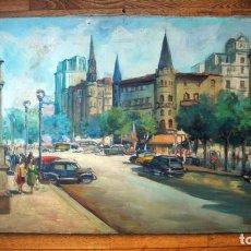 Arte: PLAÇA DE CATALUNYA. BARCELONA.1950 APROX.. Lote 100343603