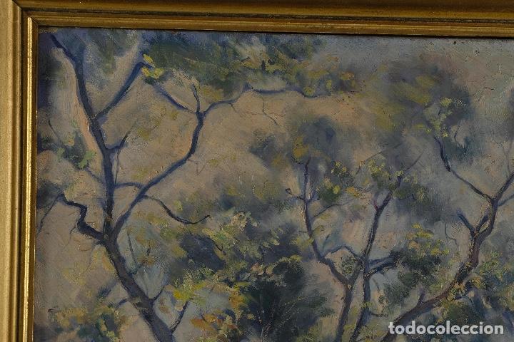 Arte: Óleo sobre lienzo Paisaje camino firmado firmado R. Tarrega - Foto 3 - 100360631