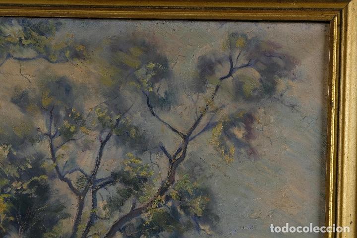 Arte: Óleo sobre lienzo Paisaje camino firmado firmado R. Tarrega - Foto 4 - 100360631