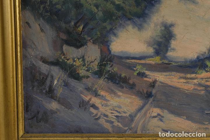 Arte: Óleo sobre lienzo Paisaje camino firmado firmado R. Tarrega - Foto 7 - 100360631