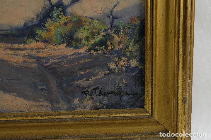 Arte: Óleo sobre lienzo Paisaje camino firmado firmado R. Tarrega - Foto 8 - 100360631