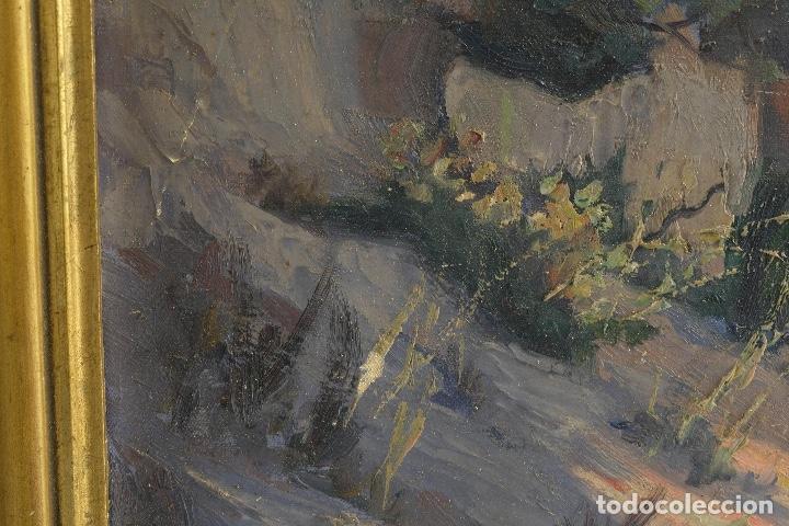Arte: Óleo sobre lienzo Paisaje camino firmado firmado R. Tarrega - Foto 10 - 100360631