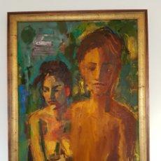 Arte: DANIEL FISHER (1958) INTERESANTE OLEO SOBRE LIENZO. FIRMADO Y DEDICADO.111X84CM. Lote 100452159
