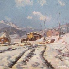 Arte: ÓLEO SOBRE LIENZO - ÁNGEL CODINACH CAMPLLON (1922-1995) - PAISAJE NEVADO. Lote 100482523