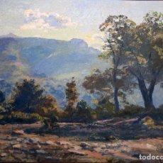 Arte: ISIDRE ODENA DAURA (TERRASSA, 1910 - 2008) OLEO SOBRE TABLEX. PAISAJE. Lote 100568591