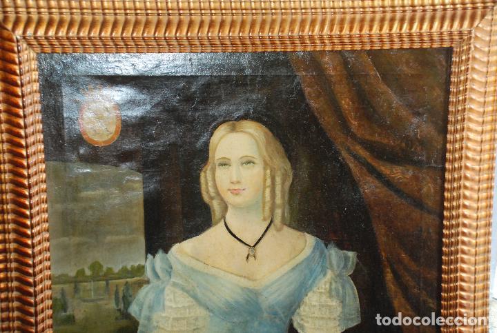 Arte: MUY BONITO RETRATO DE DAMA ÓLEO SOBRE LIENZO - Foto 2 - 100584963