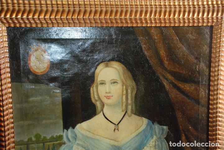 Arte: MUY BONITO RETRATO DE DAMA ÓLEO SOBRE LIENZO - Foto 17 - 100584963