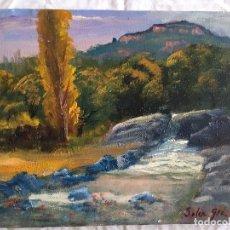 Arte: JOAN SOLER GIL, RIERA LES ARENES - LA MOLA 3-FIGURA 17X22 CM. Lote 100624651