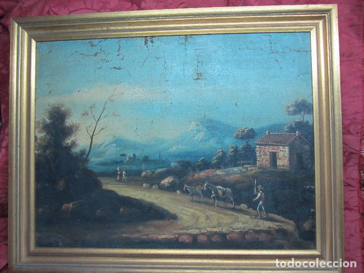 PAISAJE DEL SIGLO XVIII OLEO SOBRE TELA (Arte - Pintura - Pintura al Óleo Antigua siglo XVIII)