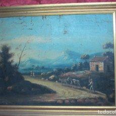 Arte: PAISAJE DEL SIGLO XVIII OLEO SOBRE TELA. Lote 100629883