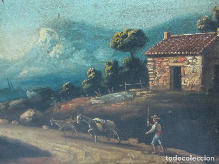 Arte: Paisaje del siglo XVIII oleo sobre tela - Foto 2 - 100629883