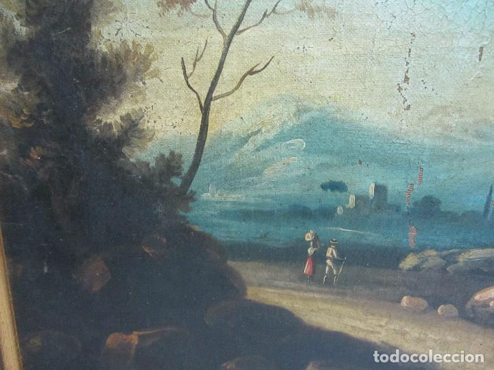 Arte: Paisaje del siglo XVIII oleo sobre tela - Foto 3 - 100629883