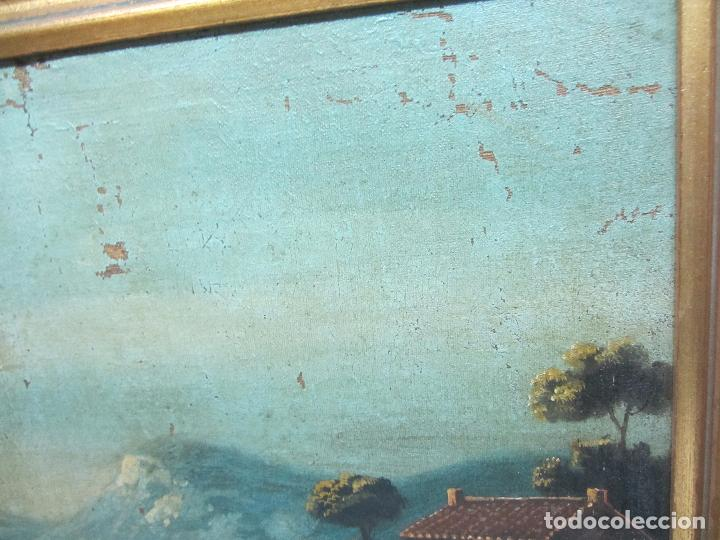 Arte: Paisaje del siglo XVIII oleo sobre tela - Foto 4 - 100629883