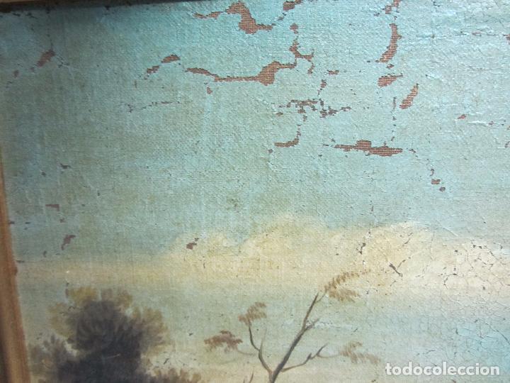 Arte: Paisaje del siglo XVIII oleo sobre tela - Foto 5 - 100629883