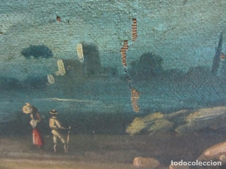 Arte: Paisaje del siglo XVIII oleo sobre tela - Foto 6 - 100629883