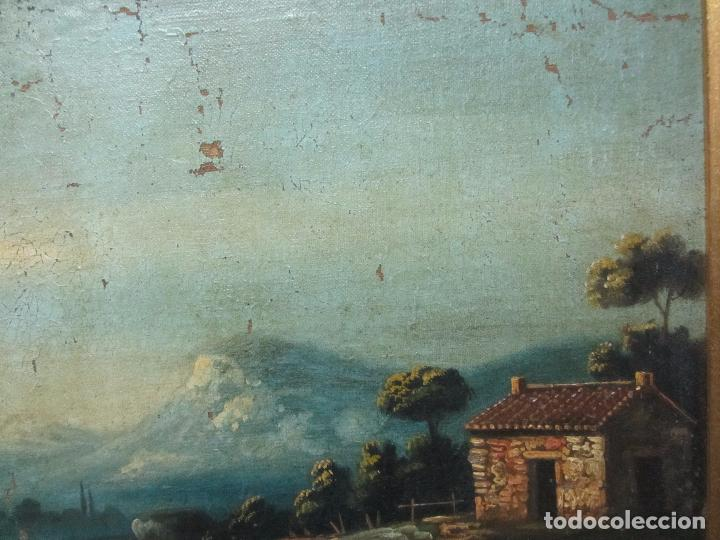 Arte: Paisaje del siglo XVIII oleo sobre tela - Foto 7 - 100629883