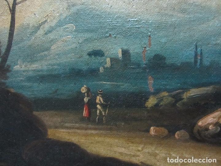 Arte: Paisaje del siglo XVIII oleo sobre tela - Foto 8 - 100629883