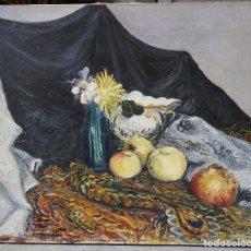 Arte: JOAN COMMELERAN, BODEGÓN, 1932, PINTURA AL ÓLEO. 65X54CM. Lote 100694275