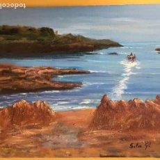 Arte: JOAN SOLER GIL, PORT LLIGAT PAISATGE 46X33 CM.. Lote 100694875