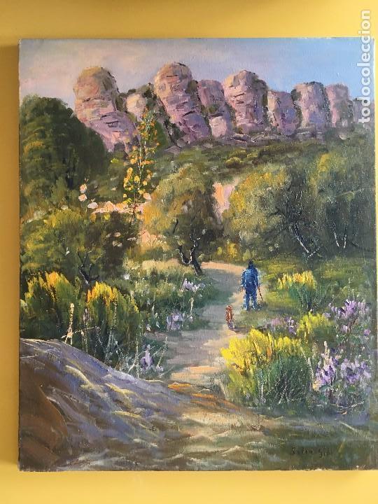 JOAN SOLER GIL, MONTANYES PAISATGE 46X33 CM. (Arte - Pintura - Pintura al Óleo Contemporánea )