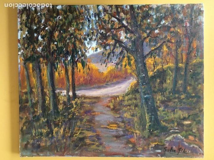 JOAN SOLER GIL,OLOT 8 PAISATGE 46X33 CM. (Arte - Pintura - Pintura al Óleo Contemporánea )