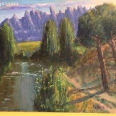 Arte: JOAN SOLER GIL, LLOBREGAT-MONTSERRAT 8 PAISATGE 46X33 CM.. Lote 100699999