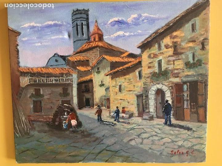 JOAN SOLER GIL, RUPIT 8 PAISATGE 46X33 CM. (Arte - Pintura - Pintura al Óleo Contemporánea )