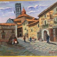 Arte: JOAN SOLER GIL, RUPIT 8 PAISATGE 46X33 CM.. Lote 100702183
