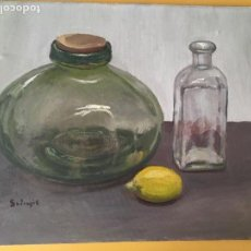 Arte: JOAN SOLER GIL,BODEGON 10 FIGURA 55X46 CM. Lote 100709607