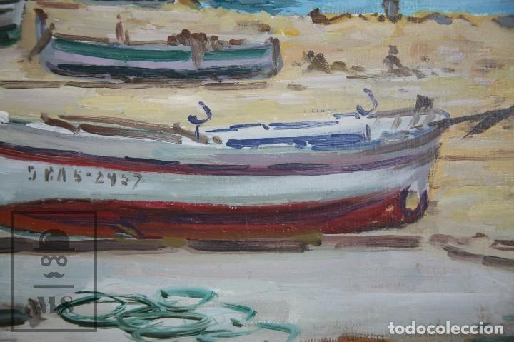Arte: Pintura al Óleo sobre Lienzo Enmarcada - Joaquím Planas Campdepadrós. Calella de Palafrugell - Foto 6 - 100715451