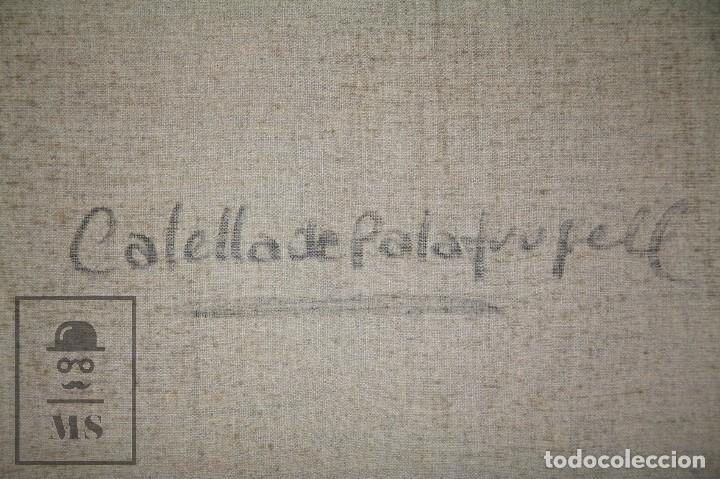 Arte: Pintura al Óleo sobre Lienzo Enmarcada - Joaquím Planas Campdepadrós. Calella de Palafrugell - Foto 8 - 100715451