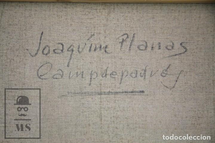 Arte: Pintura al Óleo sobre Lienzo Enmarcada - Joaquím Planas Campdepadrós. Calella de Palafrugell - Foto 9 - 100715451