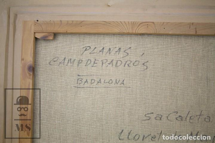 Arte: Pintura al Óleo sobre Lienzo Enmarcada - Joaquím Planas Campdepadrós. Sa Caleta, Lloret de Mar - Foto 12 - 100716259
