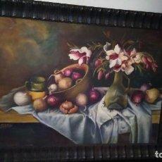 Arte: CUADRO OLEO BODEGON PINTADO EN TABLA. MEDIDAS: 88 X 65. Lote 100762967