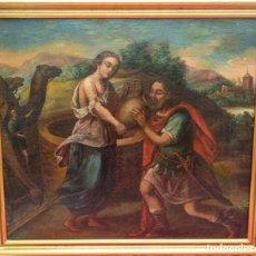 Art: ÓLEO S/LIENZO -REBECA-. ESCUELA ITALIANA S. XVIII. DIM.- 96X87 CMS.. Lote 100768371