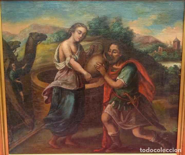 Arte: ÓLEO S/LIENZO -REBECA-. ESCUELA ITALIANA S. XVIII. DIM.- 96X87 CMS. - Foto 2 - 100768371