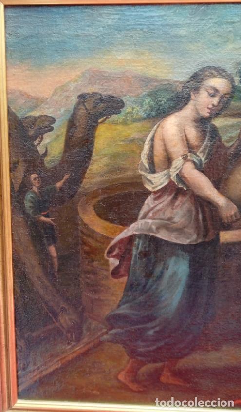 Arte: ÓLEO S/LIENZO -REBECA-. ESCUELA ITALIANA S. XVIII. DIM.- 96X87 CMS. - Foto 3 - 100768371