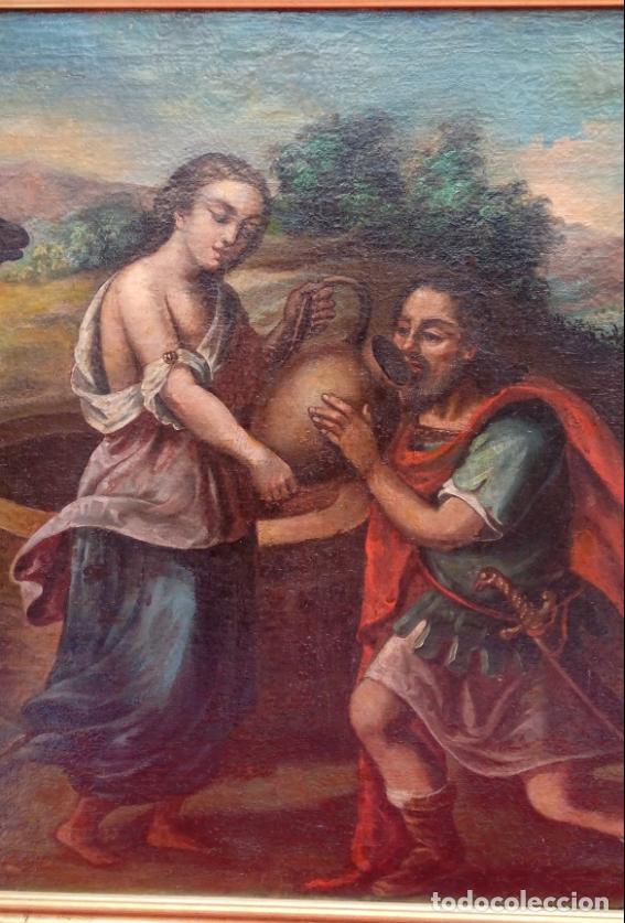 Arte: ÓLEO S/LIENZO -REBECA-. ESCUELA ITALIANA S. XVIII. DIM.- 96X87 CMS. - Foto 4 - 100768371