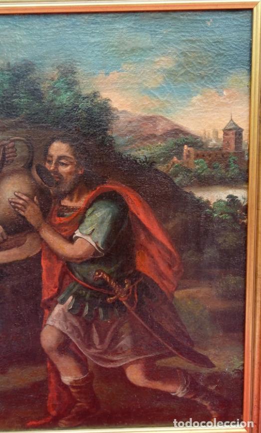 Arte: ÓLEO S/LIENZO -REBECA-. ESCUELA ITALIANA S. XVIII. DIM.- 96X87 CMS. - Foto 5 - 100768371